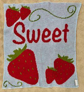 machine knit baby blanket