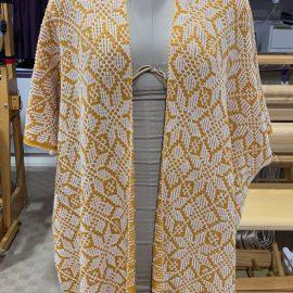Machine knit kimono