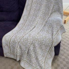 geode machine knit blanket