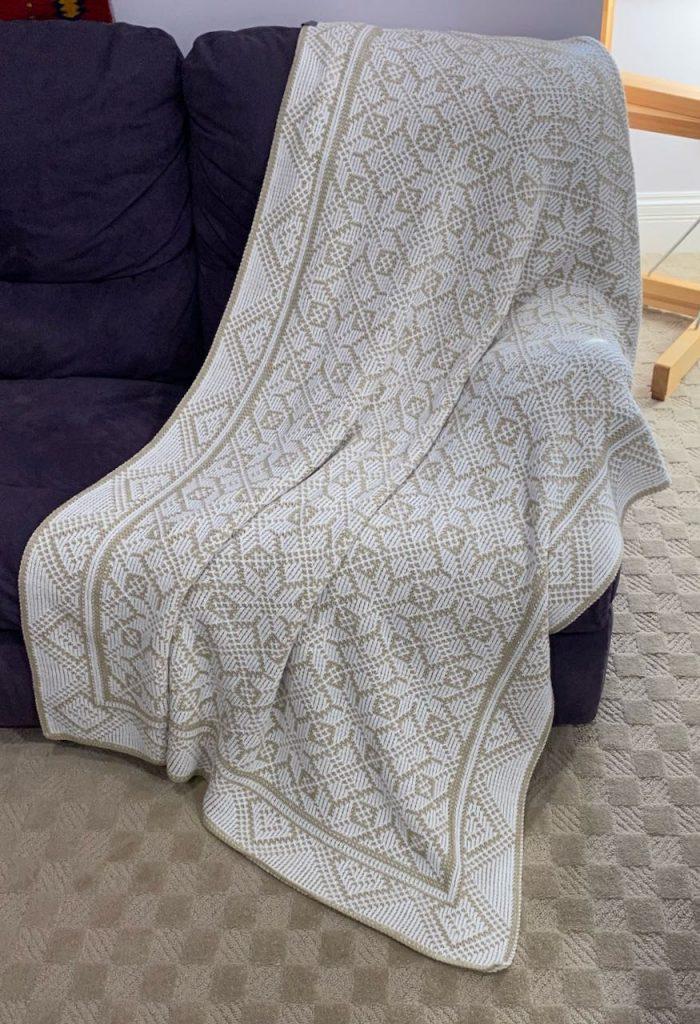 trellis machine knit blanket