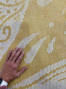 machine knit passap blanket